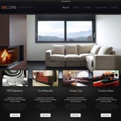 Home Decor Facebook HTML CMS Template