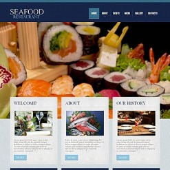 Moto CMS HTML Vorlage für Fischrestaurant