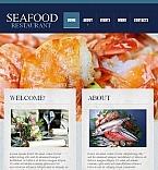 Facebook HTML CMS Vorlage für Fischrestaurant