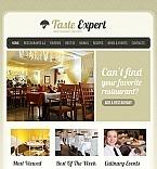 Facebook HTML CMS Vorlage für Restaurant-Bewertungen