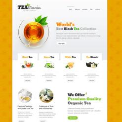 Tea Shop Responsive Joomla Template