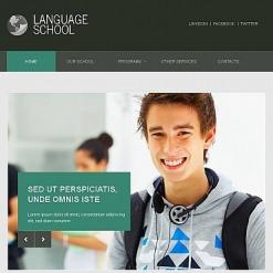 Facebook HTML CMS Vorlage für Sprachschule