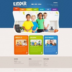 Flash CMS Vorlage für Kindercenter