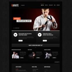 Martial Arts Responsive Joomla Template