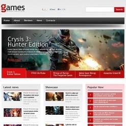 Flash CMS Vorlage für Spieleportal-