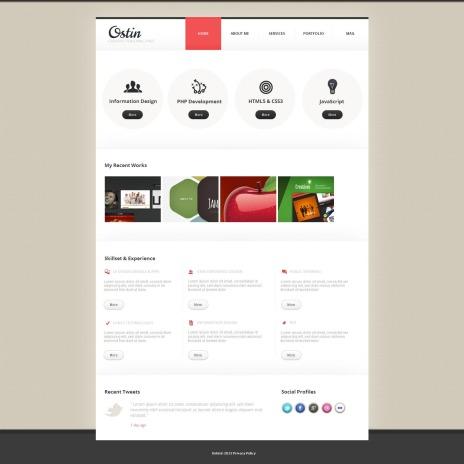 Designer Portfolio Moto CMS HTML Templates