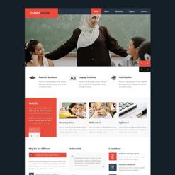 Responsive Website Vorlage für Religionsschule