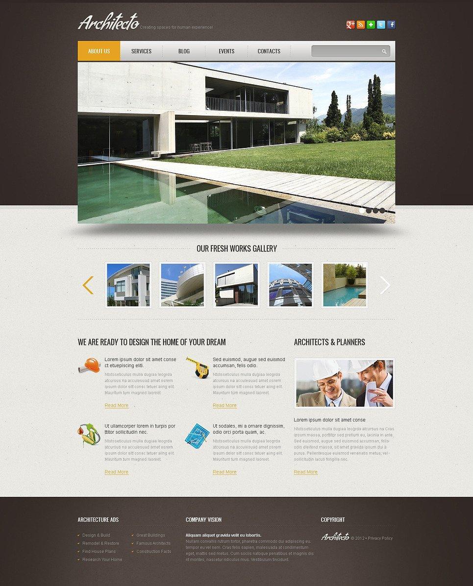 Готовый сайт архитектура