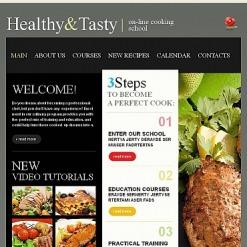Facebook HTML CMS Vorlage für Kochen