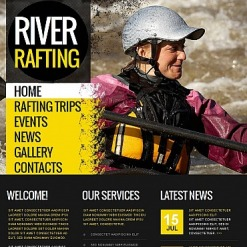 Rafting Facebook HTML CMS Template
