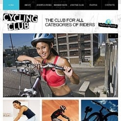 Cycling Facebook HTML CMS Template
