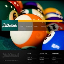 Billiards Facebook HTML CMS Template