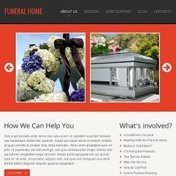 Facebook HTML CMS Vorlage für Trauergottesdienst