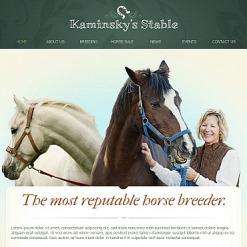 Horse Racing Facebook HTML CMS Template