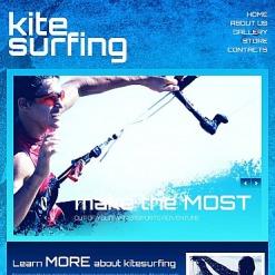 Kitesurfing Facebook HTML CMS Template