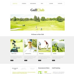 Golf Responsive WordPress Theme