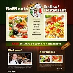 Flash CMS Vorlage für Italienisches Restaurant