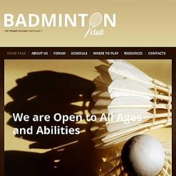 Modèle HTML CMS Pour Facebook  pour site de badminton