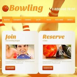 Modèle HTML CMS Pour Facebook  pour site de bowling