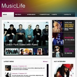 Music Portal Facebook HTML CMS Template