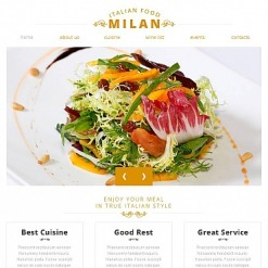 Facebook HTML CMS Vorlage für Italienisches Restaurant