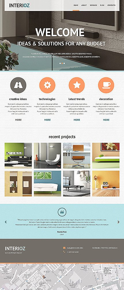 Photo of black interior design joomla template by cowboy tmt