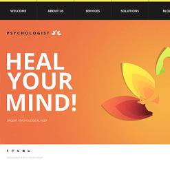 Moto CMS HTML Vorlage für Psychologe