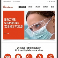 Science Lab Facebook HTML CMS Template