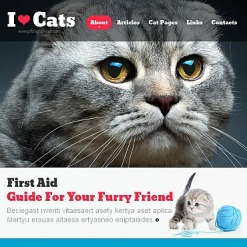 Cat Facebook HTML CMS Template