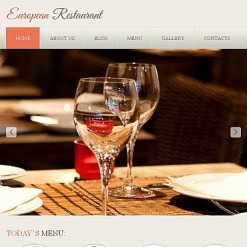 Facebook HTML CMS Vorlage für European Restaurant