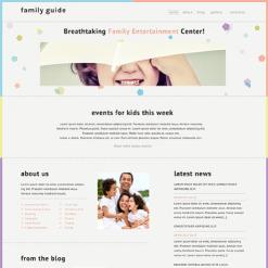 Responsive Website Vorlage für Familienzentrum