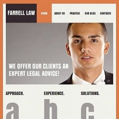 Law Firm Facebook HTML CMS Template