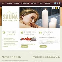 Plantilla Facebook HTML CMS #47061 para Sitio de Sauna