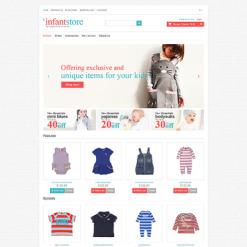 Responsive OpenCart Vorlage für Babyshop