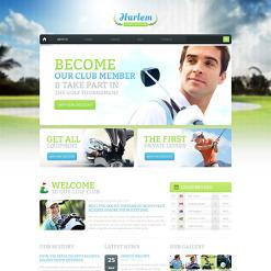 Golf Drupal Template