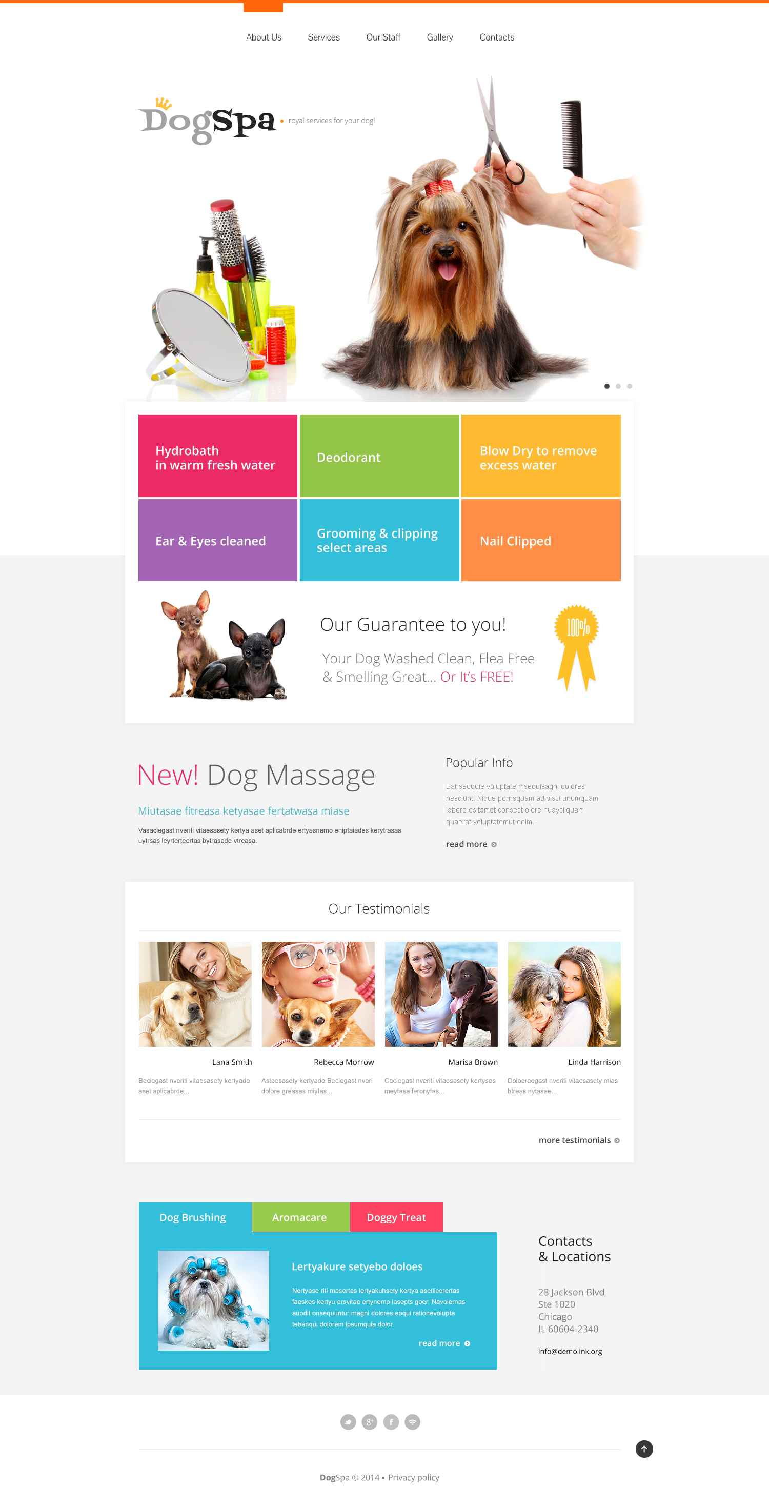 Dog website template magento - 2018