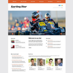 Karting Responsive WordPress Theme