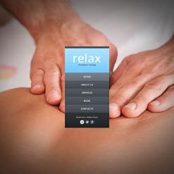 Website Vorlage für Massagesalon