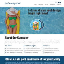 Pool Cleaning Joomla Template
