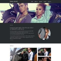 Responsive Website Vorlage für Mode-Blog