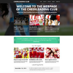 Cheerleading Drupal Template