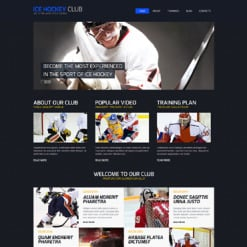 Hockey Responsive Joomla Template