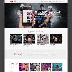 Music Store Responsive Joomla Template