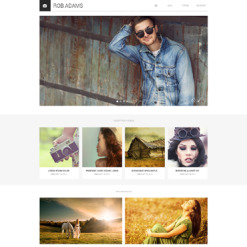 Photographer Portfolio Drupal Template