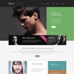 Responsive Website Vorlage für Schönheitssalon