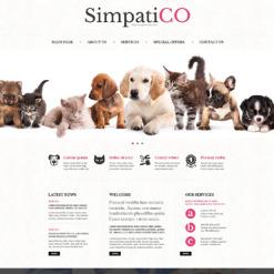 Responsive Website Vorlage für Tiere und Haustiere