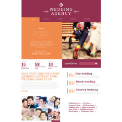 Wedding Planner Responsive Joomla Template