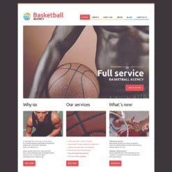 Basketball Responsive WordPress Theme