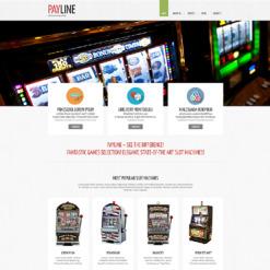 Responsive Website Vorlage für Glücksspielautomat