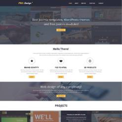 Responsive Website Vorlage für Designstudio